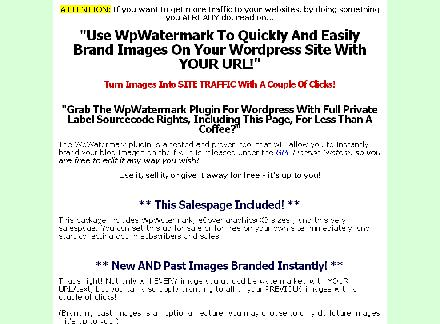 WP Watermark Plugin Comes with Private Label Rights! review