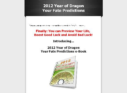 2012 Year of Dragon - Your Fate Predictions review