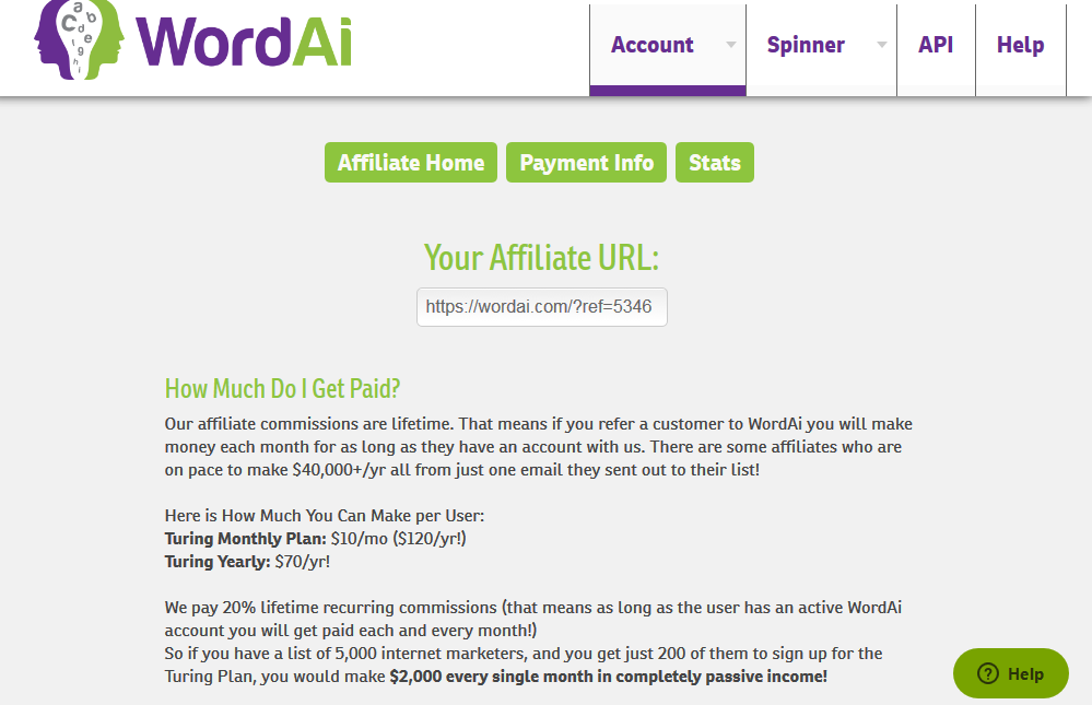wordai account affiliate program
