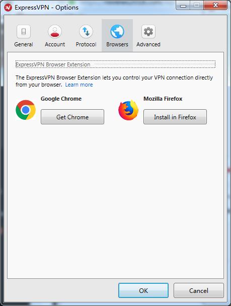 expressvpn options browers