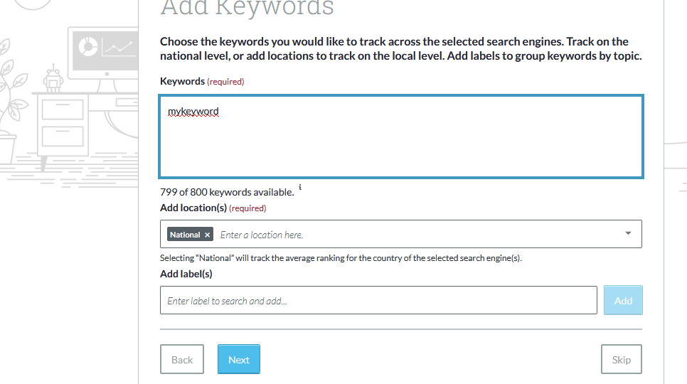 addkeywords